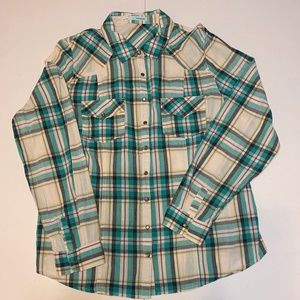 Maurices Long Sleeve Plaid Shirt - Women's XL